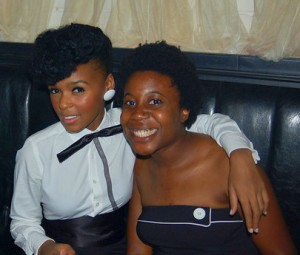 Janelle Monae and Crunk Feminist Moya Bailey at Release Party for Suite I Metropolis