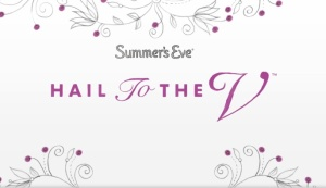 Summer's Eve Hail to the V logo