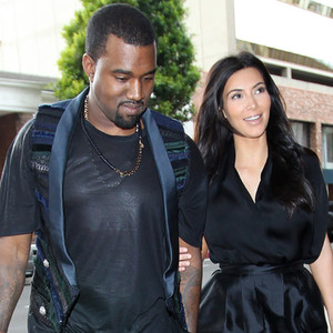 Kanye and Baby Mom (to be) Kim Kardashian