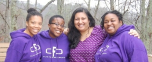 CF Sheri, Moyazb, EeshaP and Crunktastic pose together